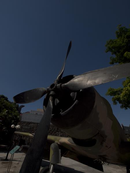 博物館の戦闘機。