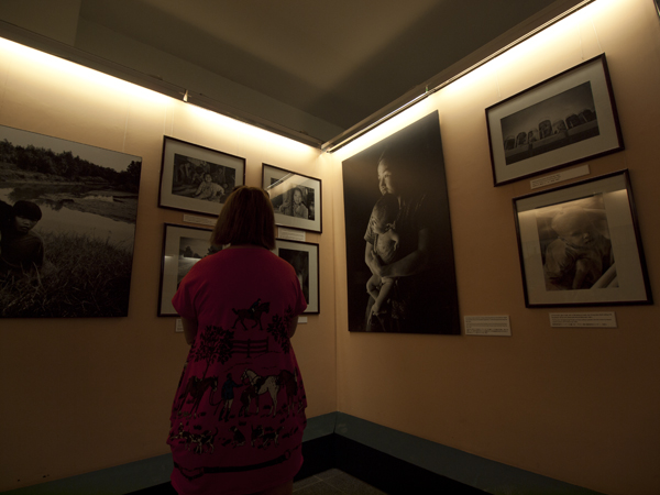 博物館内。