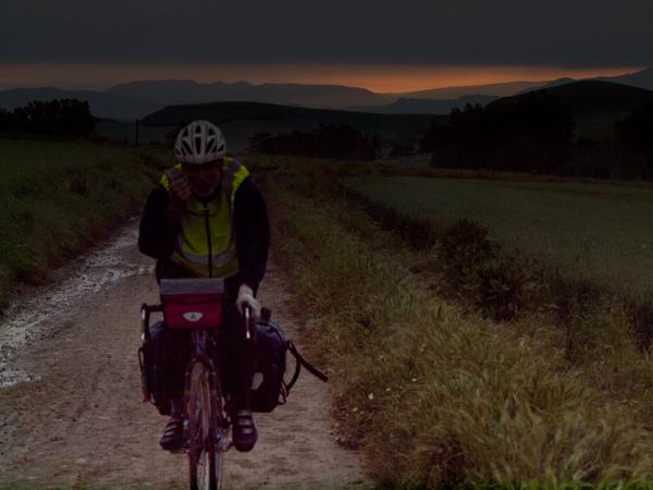 スペインは自転車が多いのは、自転車と同じ道だからですね。フランスは獣道が多いので、自転車は別の道を使っていたようです。
