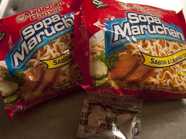 エル・カラファテとウシュアイアで買えるインスタントラーメンは、Sopa Maruchanだけ。Beef味がおすすめ。