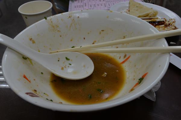 ニンニクが効いている担々麺。あっさり系。
