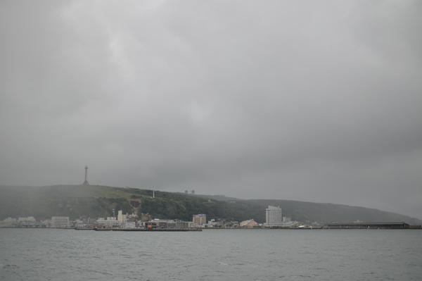 さよなら日本。また会う日まで。霧の稚内市。