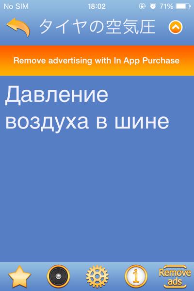 スマホのアプリ「Japanese Russian dictionary(無料)」で、ロシア語を凌いでいます。