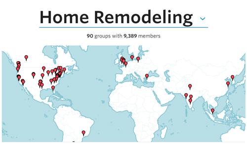 カナダの「Home Remodeling Meetups」を探したのですが、