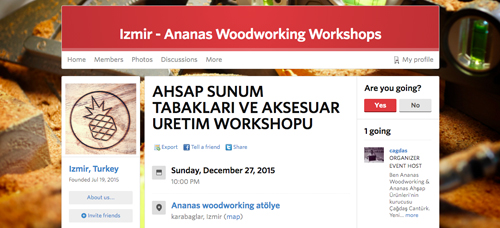 なぜかトルコの「Izmir - Ananas Woodworking Workshops」に参加。