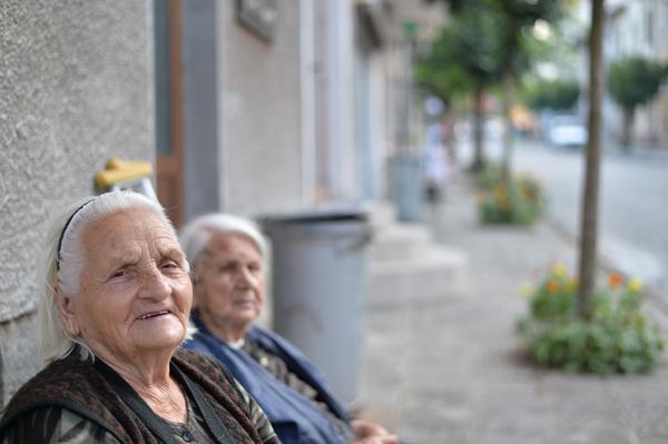 奥のお婆ちゃんは、100歳。